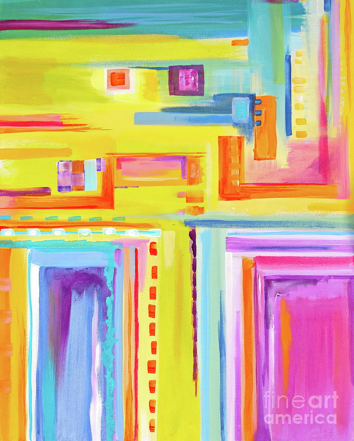 Uplifting Painting - You Dont Say ? by Priscilla Batzell Expressionist Art Studio Gallery