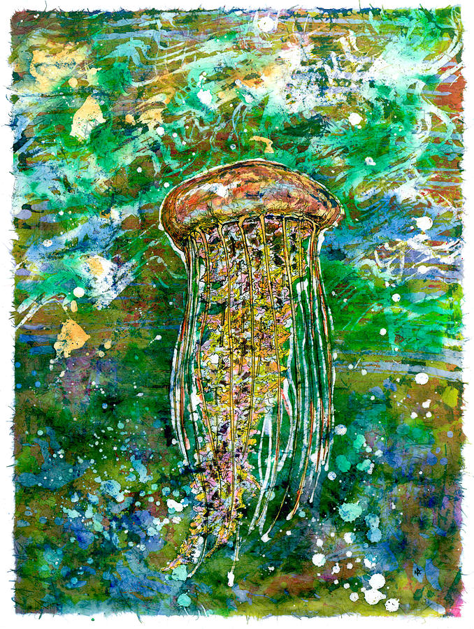 Jellyfish Painting - You Dont Stop by Nick Cantrell