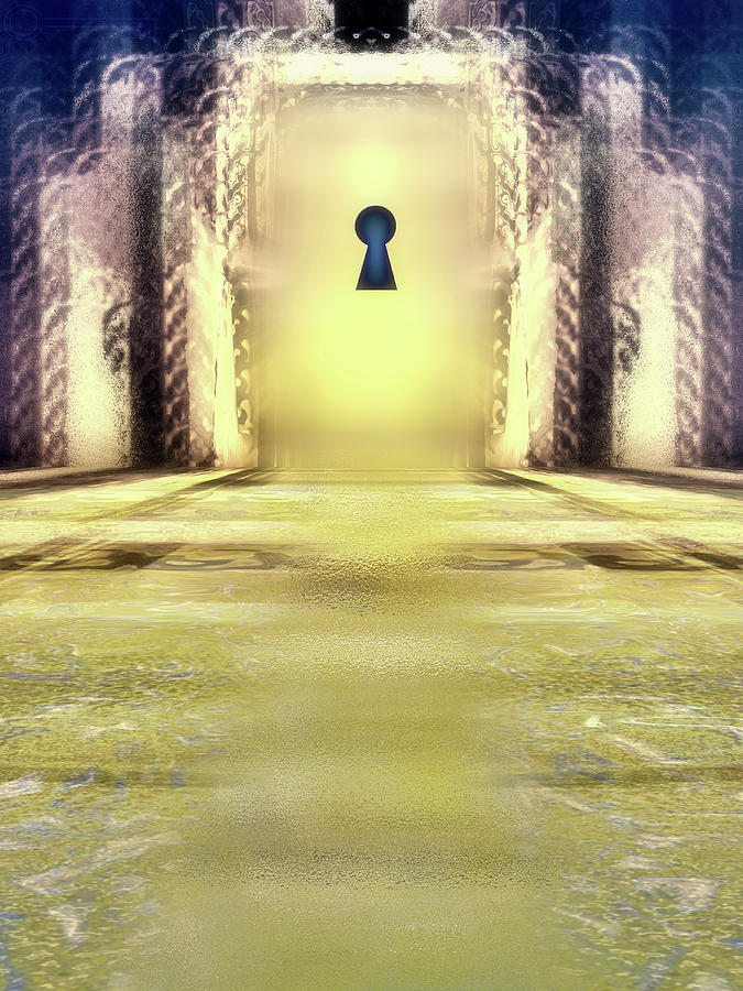 Door Digital Art - You Hold The Key by Another Dimension Art