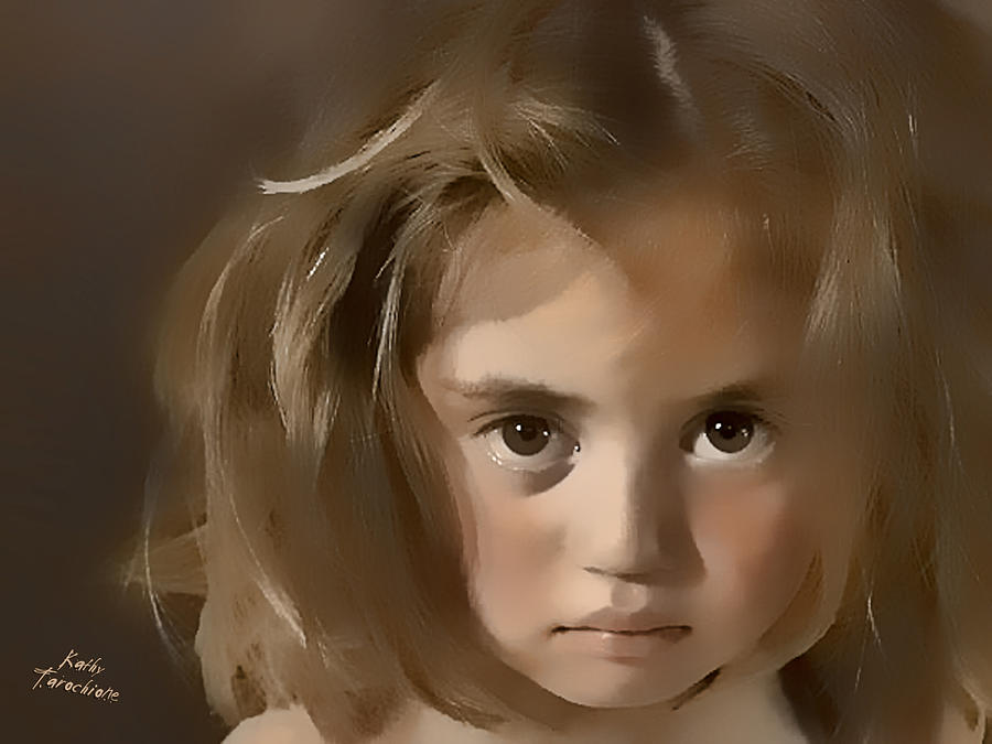 Sad Girl Digital Art - You Hurt Me by Kathy Tarochione