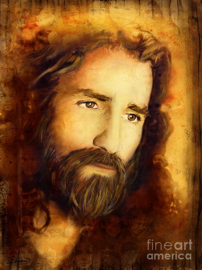 Jesus Mixed Media - You Love Them - 2 by Shevon Johnson