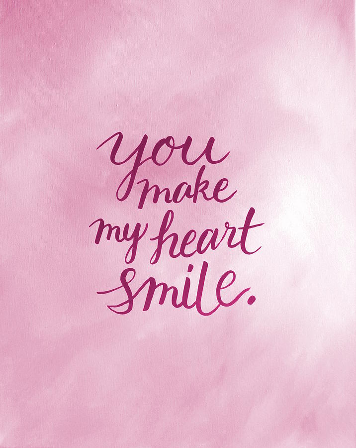 You Make My Heart Smile Pillow