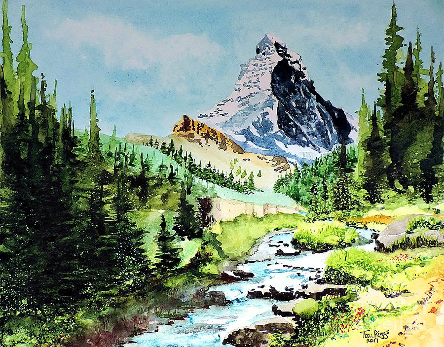 Matterhorn Painting - You Must Be At Least This Tall... by Tom Riggs