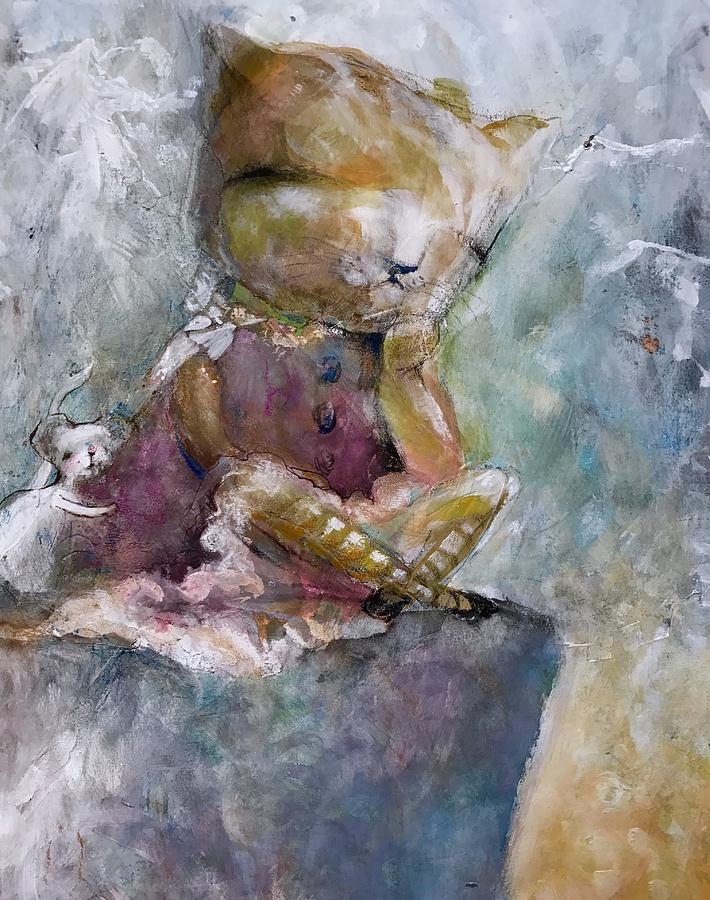 Mouse Mixed Media - You Need A Hug by Eleatta Diver