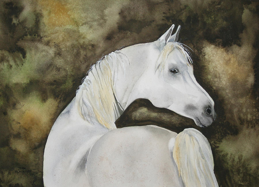 Horse Painting - You Talking To Me by Jean Blackmer