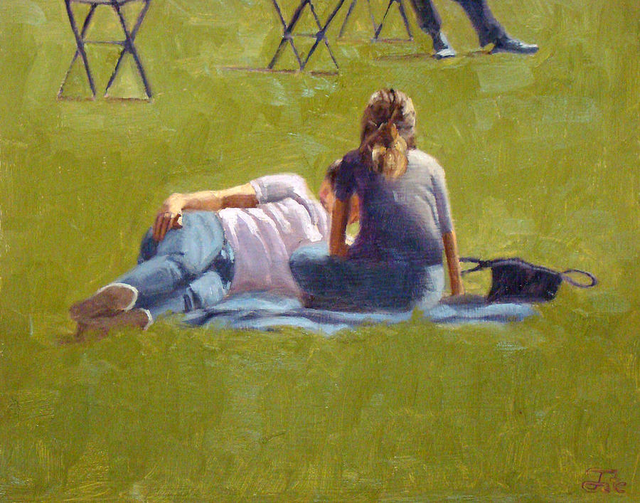 Art Work Painting - You the grass and I by Tate Hamilton