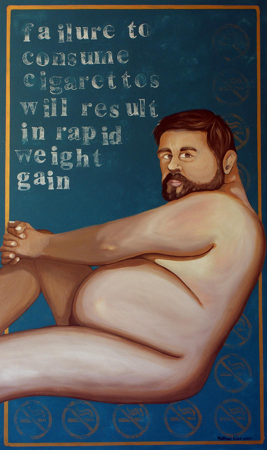 Oil Painting - Youll Get Fat by Matthew Lake