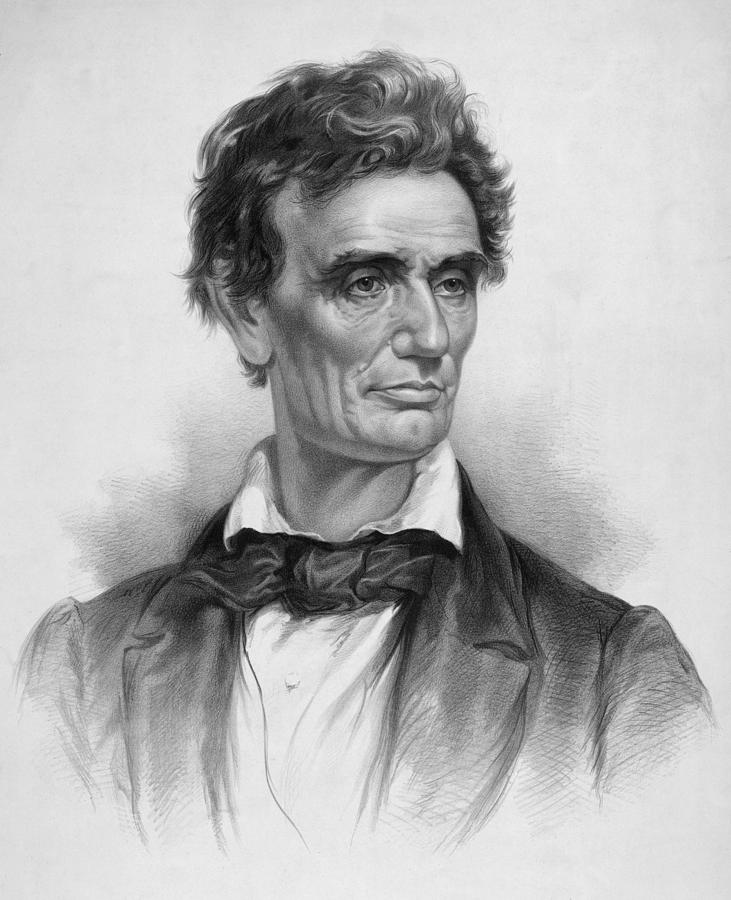 Abraham Lincoln Drawing - Young Abe Lincoln by War Is Hell Store