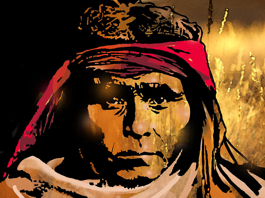 Native Americans Painting - Young Apache Brave by Paul Sachtleben