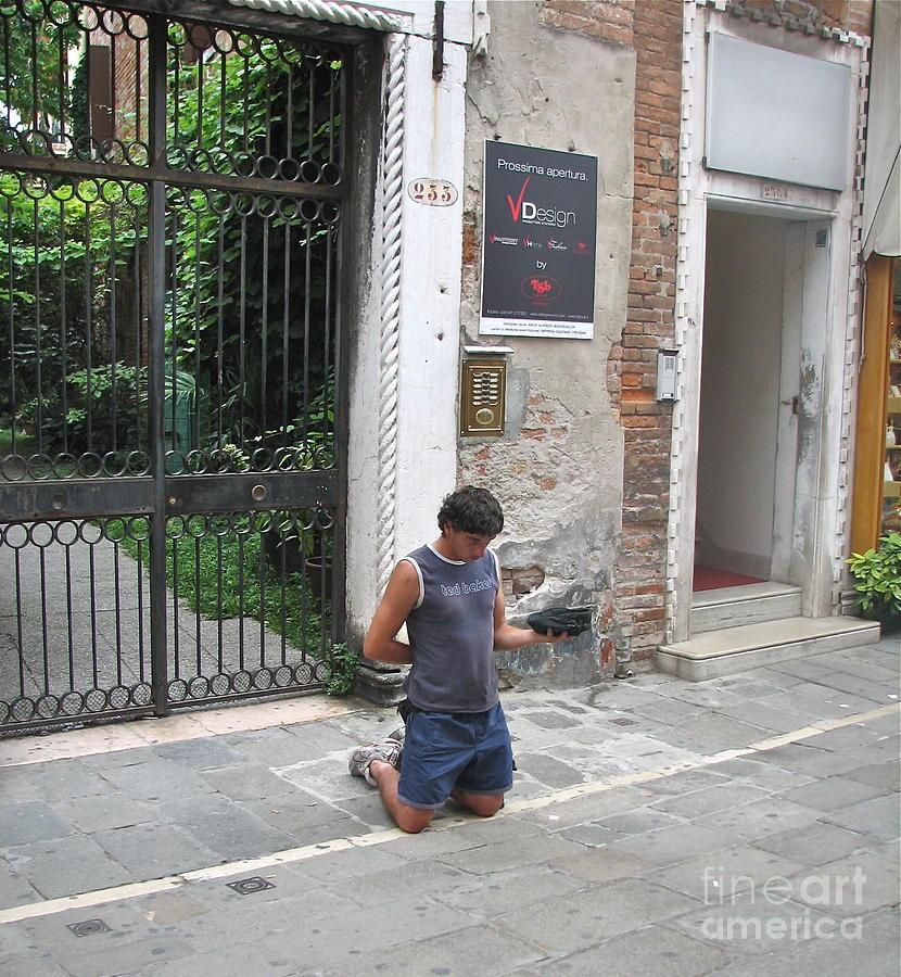 Begger Photograph - Young Begger by Italian Art