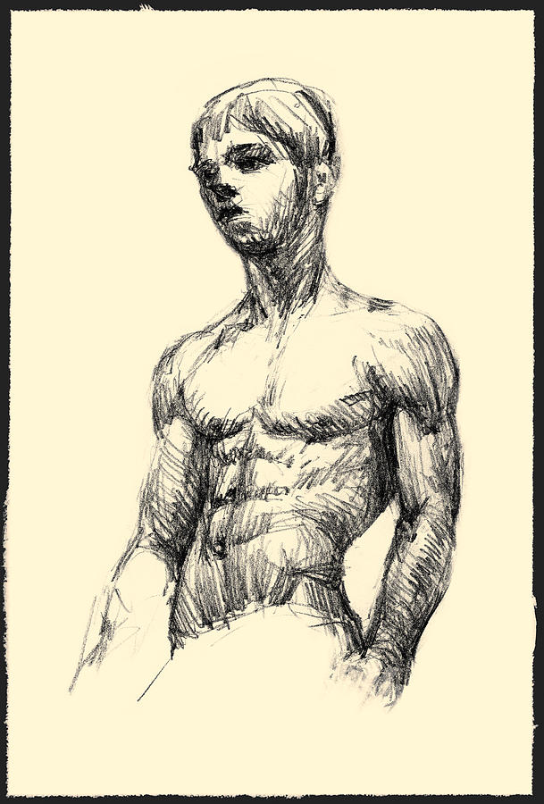 Young Boy Pencil Sketch Drawing By Ivan Dinkov