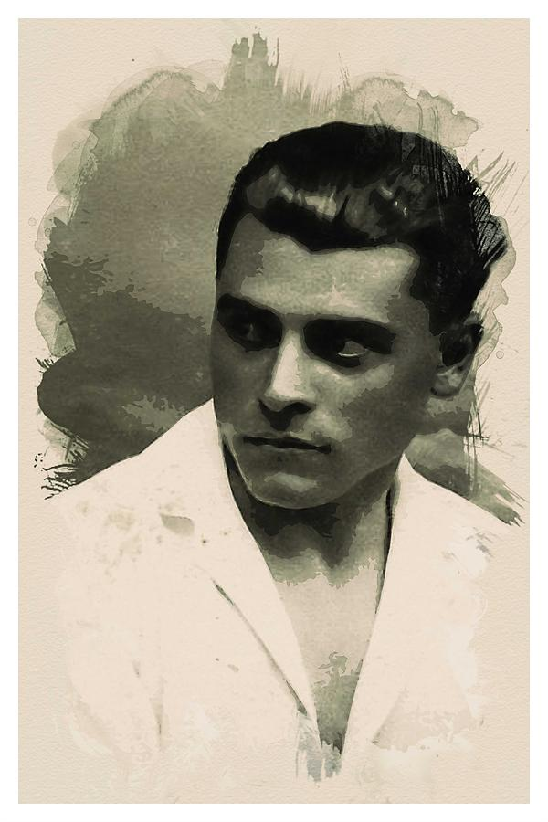 Man Painting - Young Faces From The Past Series By Adam Asar, No 73 by Adam Asar