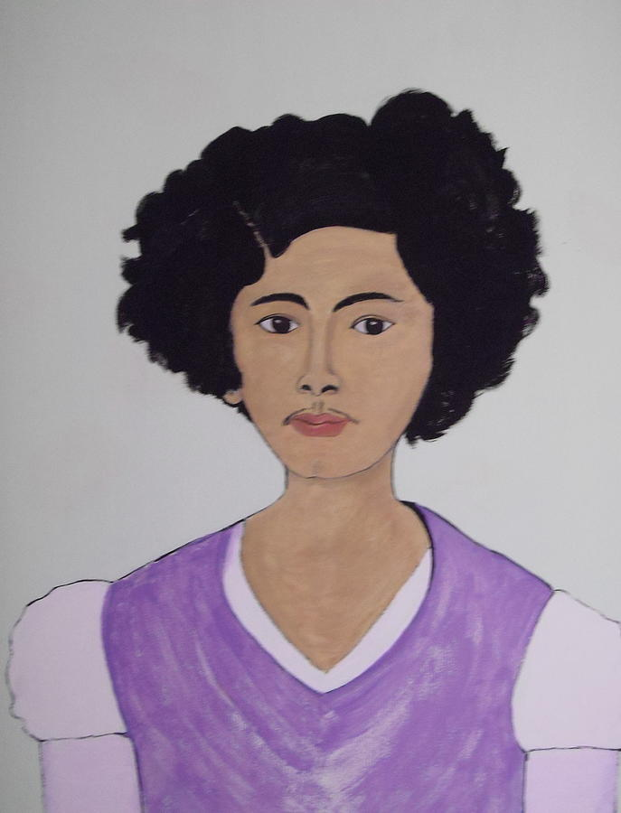 Frida Kahlo Painting - Young Frida by Stephanie Moore