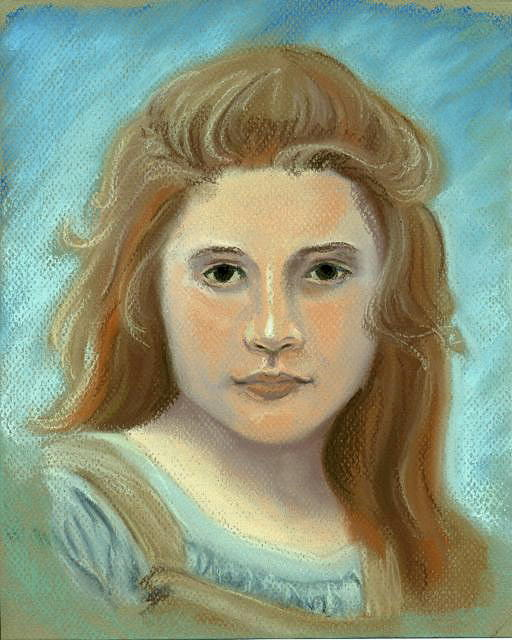 Portrait Pastel - Young Girl Bouguereau by Michael DePalo