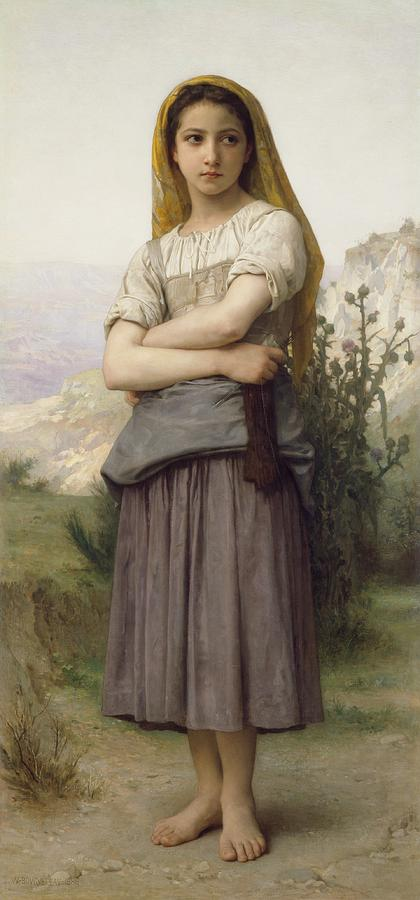 Girl Painting - Young Girl, By William-adolphe Bouguereau by William-Adolphe Bouguereau