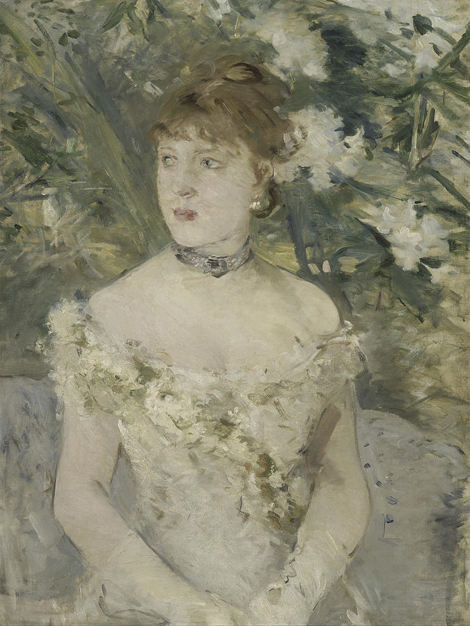 Girl Painting - Young Girl In A Ball Gown By Berthe Morisot by Berthe Morisot