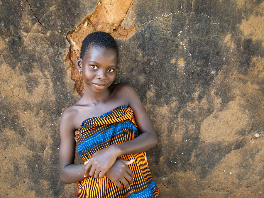 Young Girl In A Togo Village Photograph by David Smith