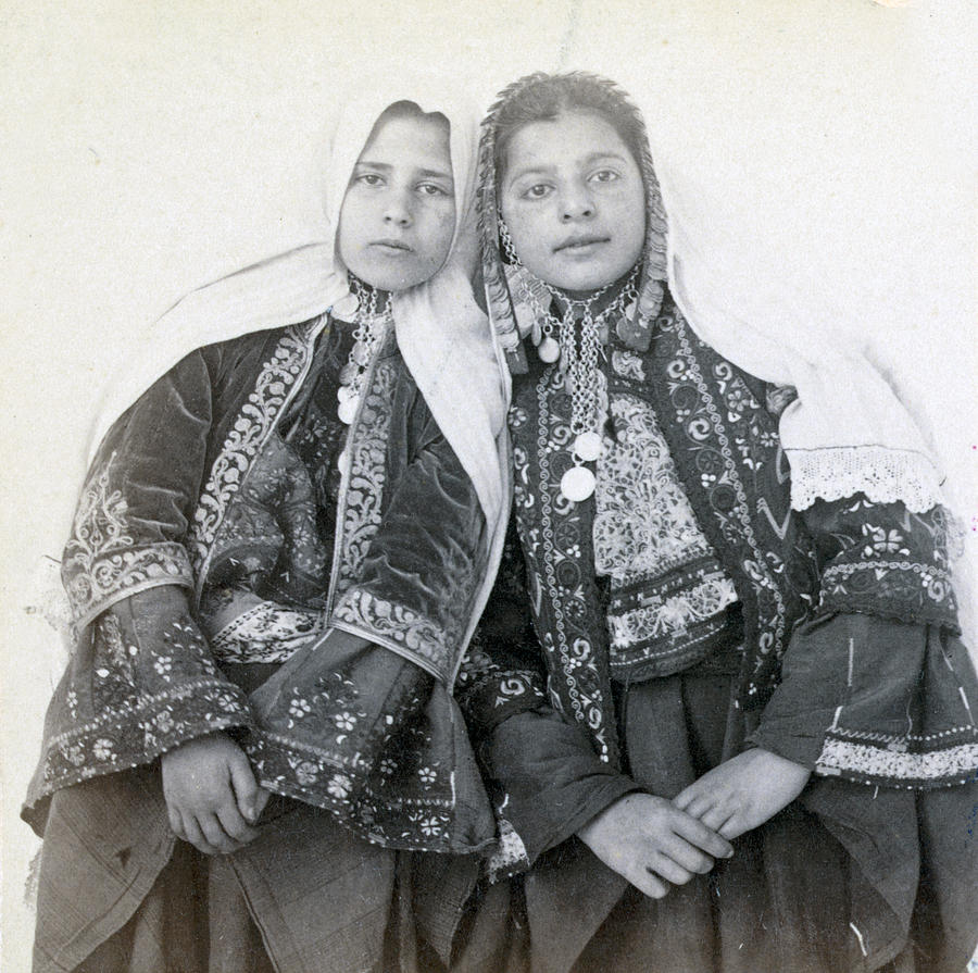 Portraits Photograph - Young Girls Of Bethlehem Year 1896 by Munir Alawi