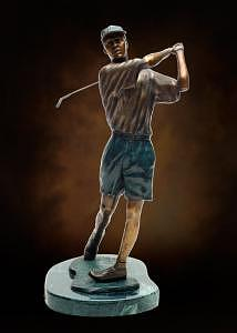 Young Golfer Sculpture by Tom White