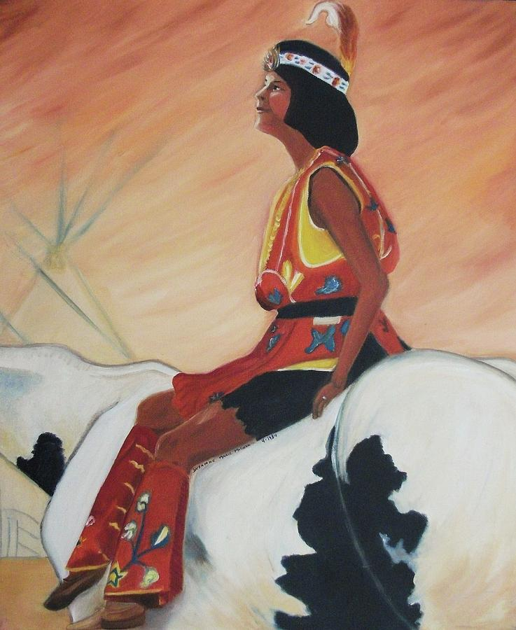 Indian Painting - Young Indian Native by Suzanne  Marie Leclair