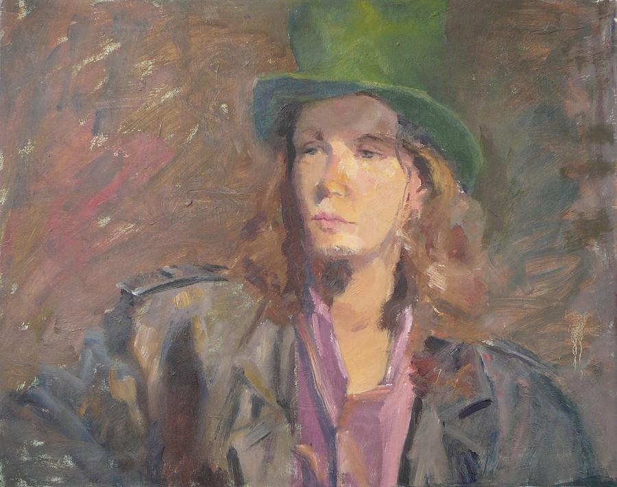 Young Irish Man Painting by Irena  Jablonski
