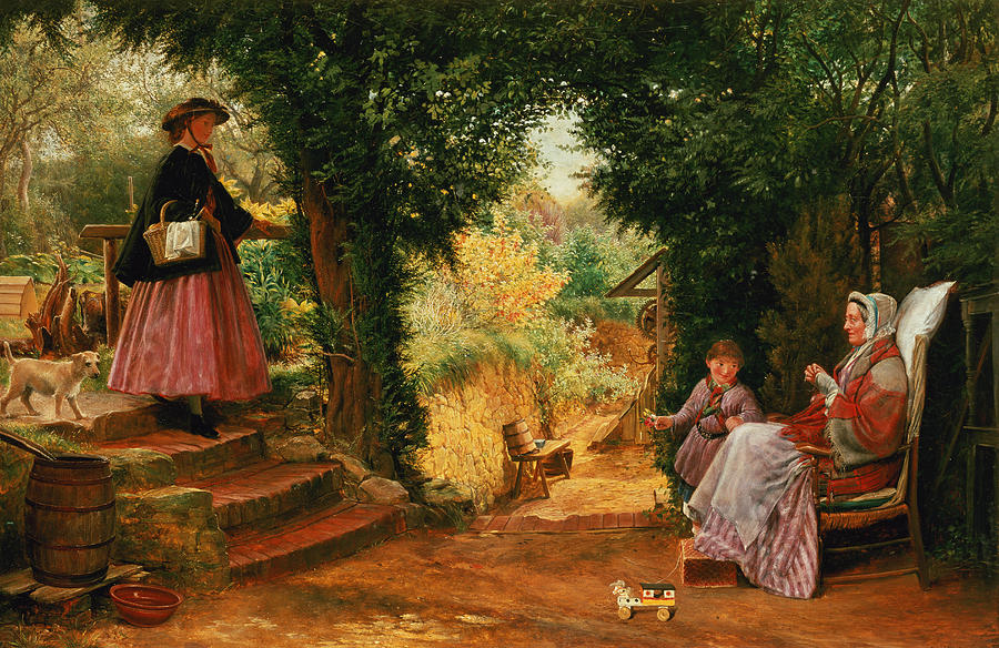 Young Painting - Young Lady Bountiful by Richard Redgrave