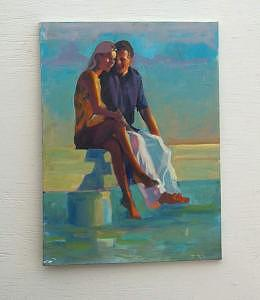 Painting Painting - Young Lovers by Perry  Rubenstein