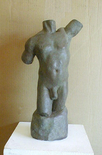 Young Male Torso Sculpture by Ramon Lago