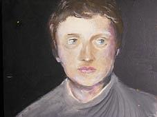 Junior Painting - Young Man - 1990 by Claudio Facchi