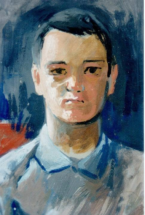 Portraits Painting - Young Man by George Siaba
