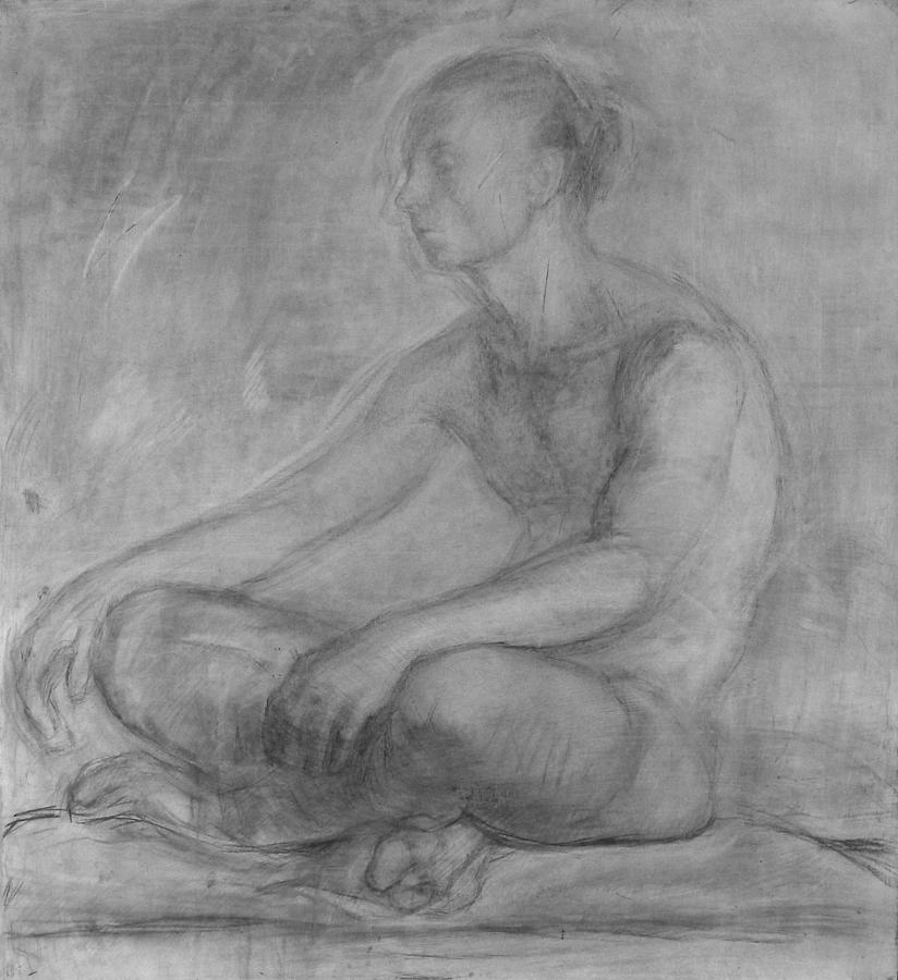 Posing Painting - Young Man by Robert Nizamov