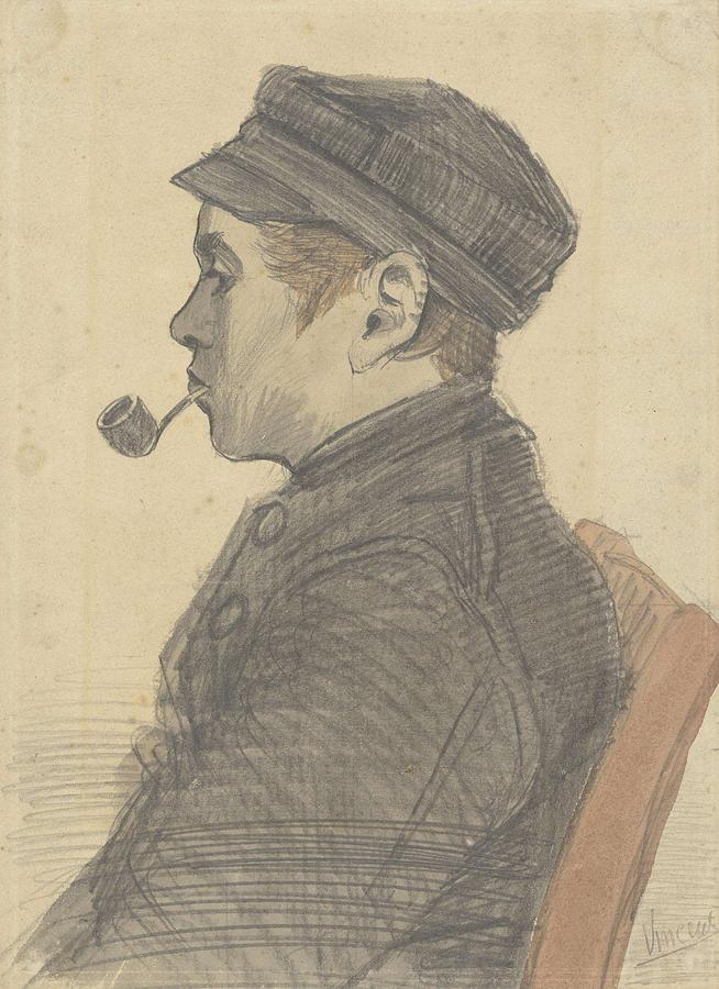 Man Painting - Young Man With A Pipe Nuenen, March 1884 Vincent Van Gogh 1853 - 1890 by Artistic Panda