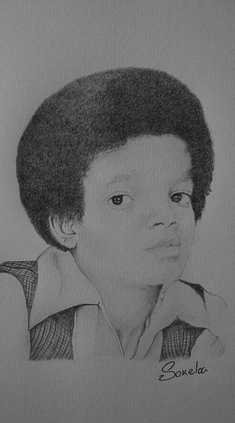 young Michael Jackson Drawing by Alexandros Foltopoulos