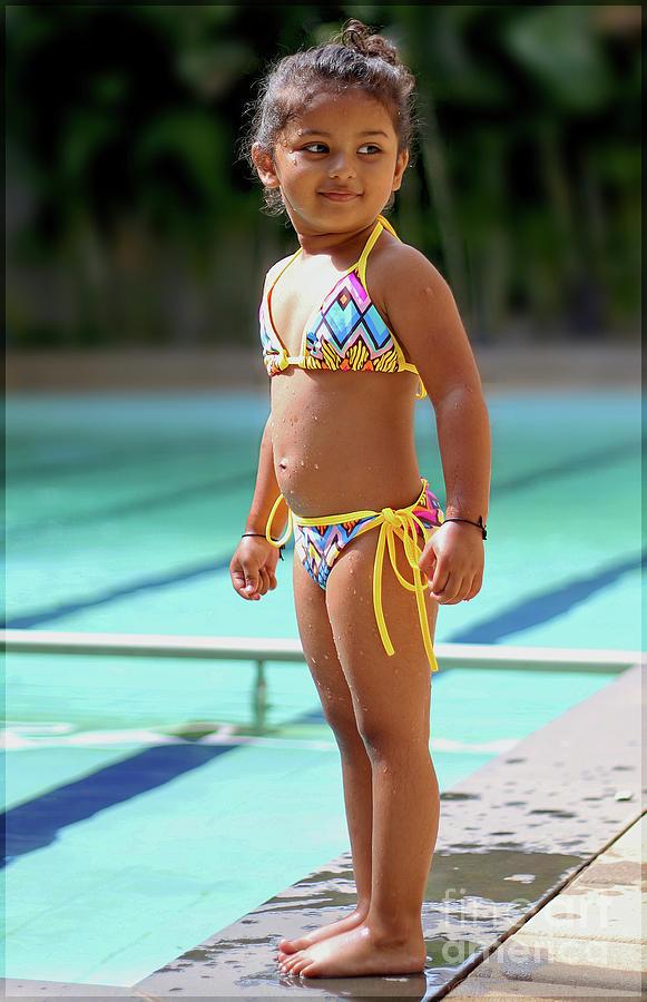 Really. Young model in bikini can