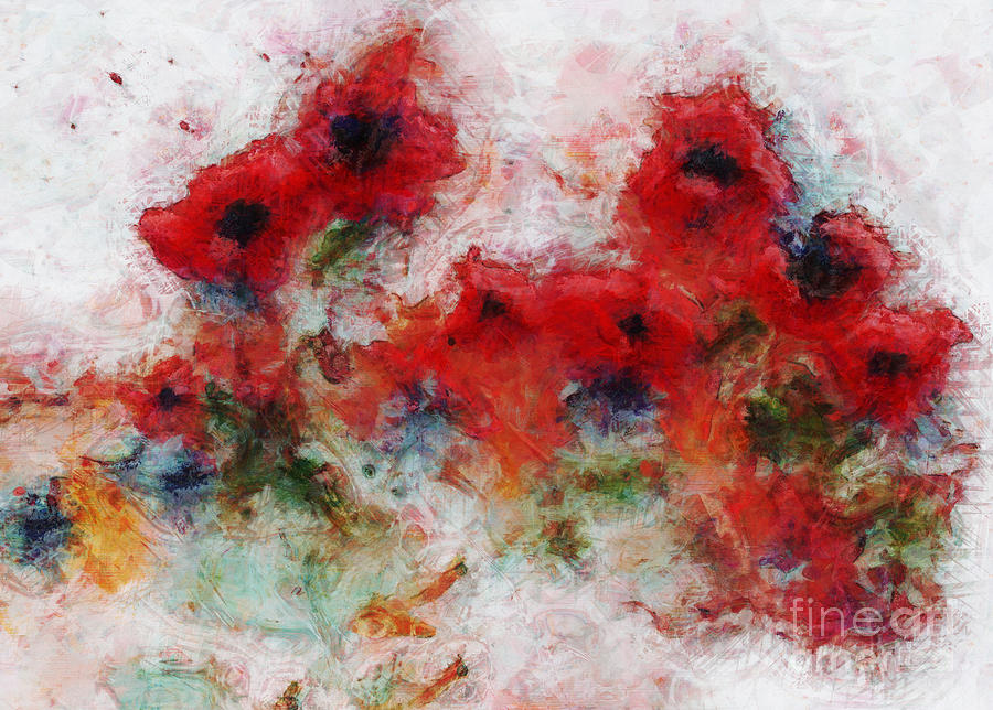 Poppy Painting - Young Ones by Claire Bull
