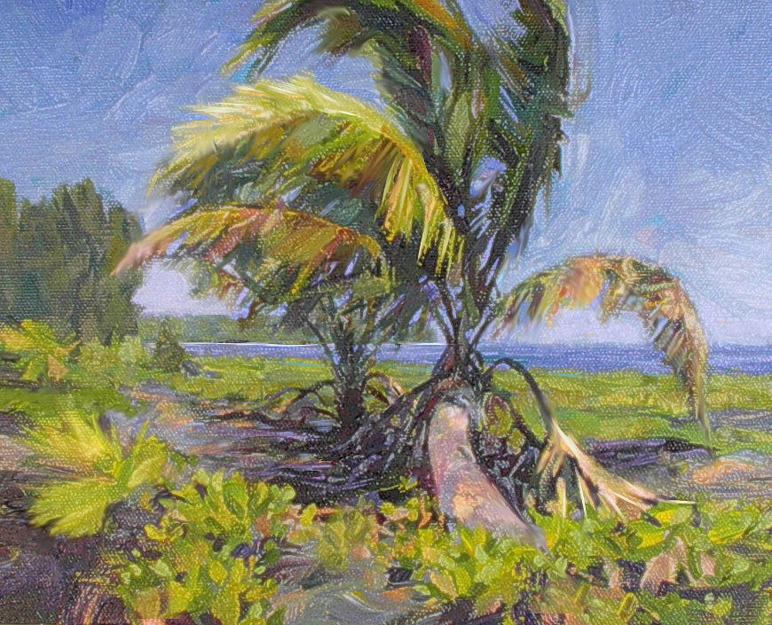 Landscape Painting - Young Palm by Rod Cameron