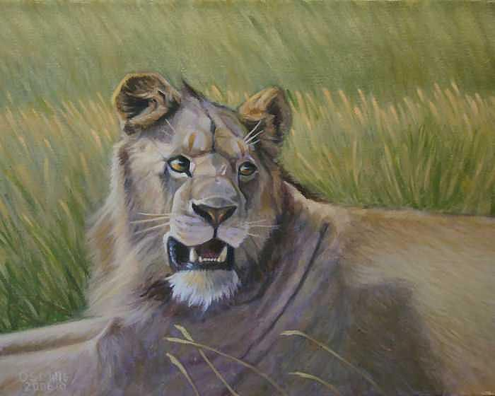 African Wildlife Painting - Young Prince by Dan Mills