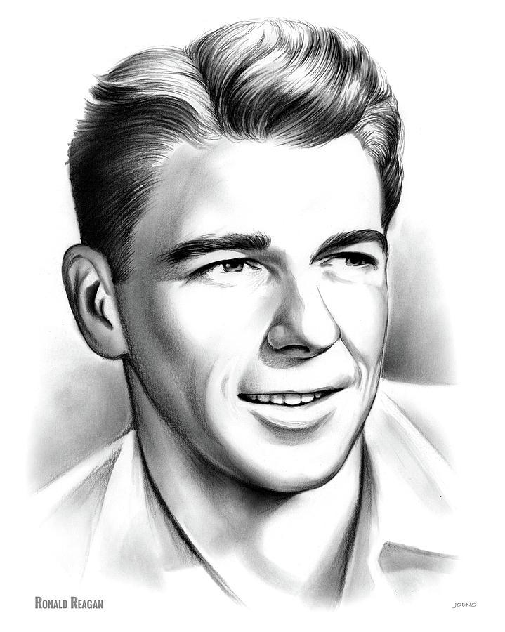 Young Reagan Drawing