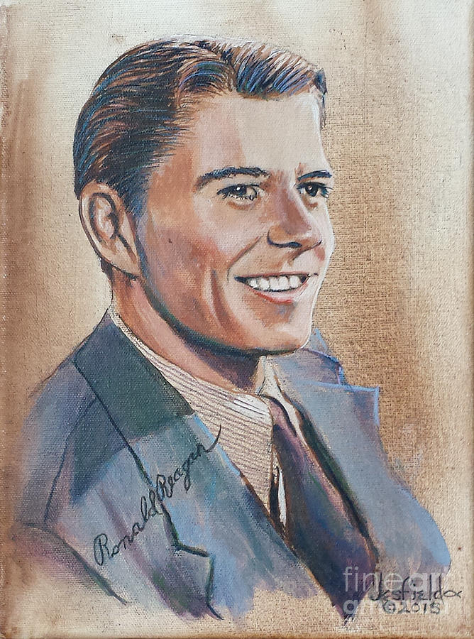President Painting - Young Ronald Reagan by LeRoy Jesfield