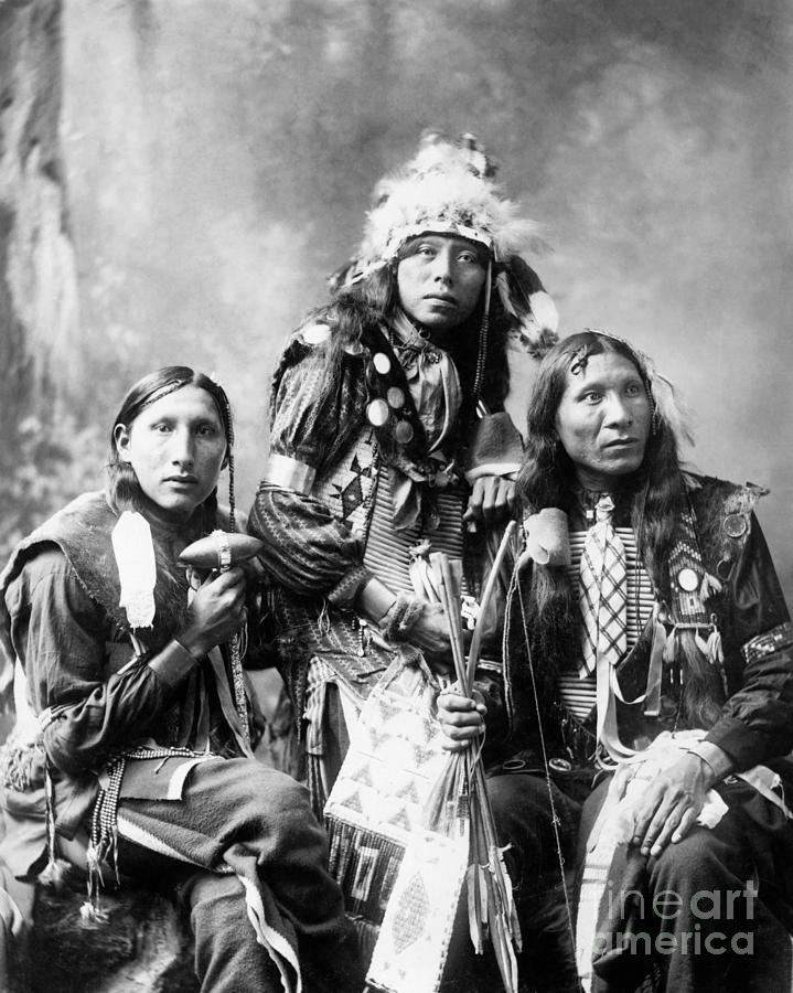 1899 Photograph - Young Sioux Men, 1899 by Granger