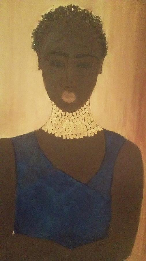 Woman Painting - Young Sudanese Woman by Susan Madison