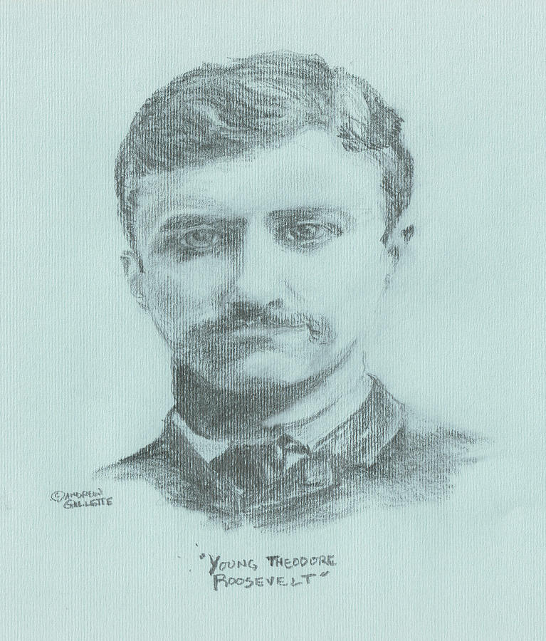 Teddy Roosevelt Drawing - Young Theodore Roosevelt by Andrew Gillette