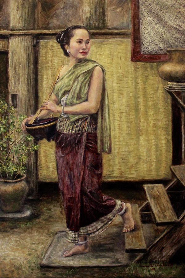 Young Woman Going to the Market  by Sompaseuth Chounlamany