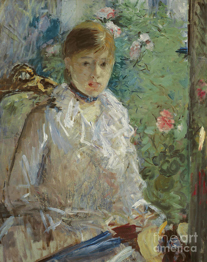 Morisot Painting - Young Woman Sitting In Front Of A Window, Called Summer, 1879 by Berthe Morisot