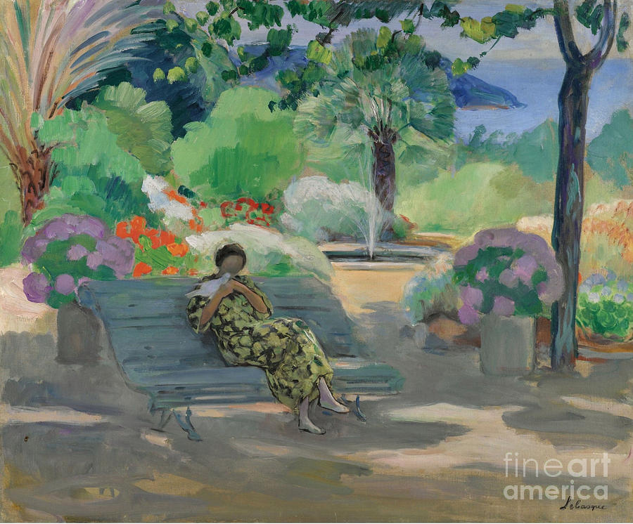 Henri Lebasque Painting - Young Woman With A Dove by MotionAge Designs