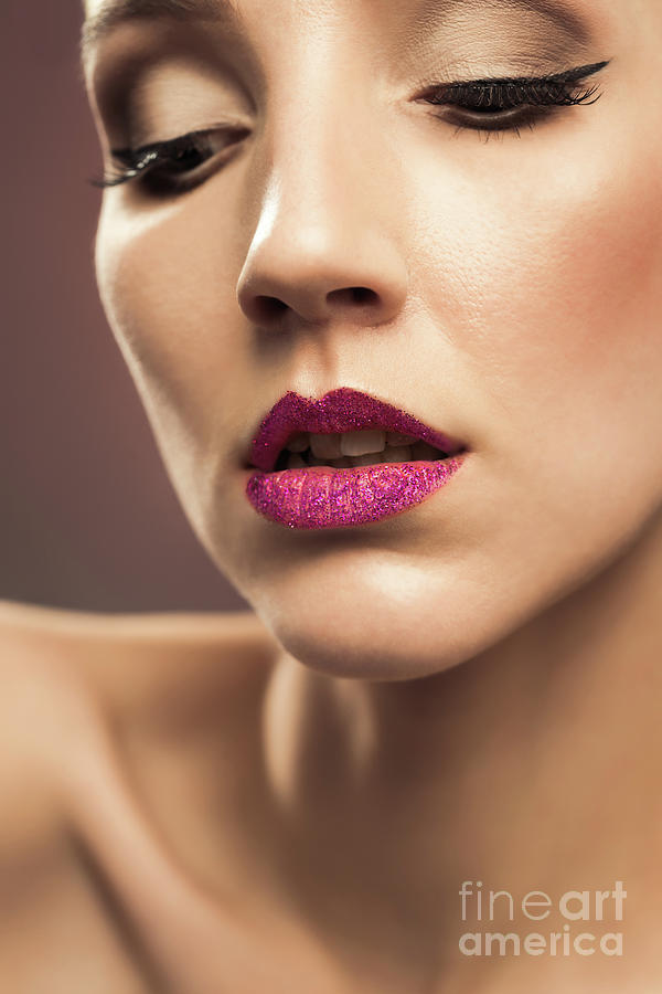 Make Up Photograph - Young Woman With Flawless Makeup by Amanda Elwell