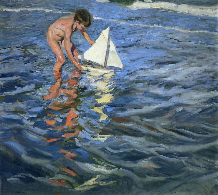 Joaquin Travel Towel: Young Yachtsman Painting By Joaquin Sorolla