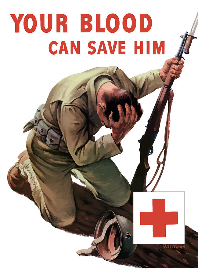 Your Blood Can Save Him - Ww2 Painting