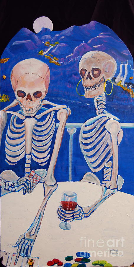 Dia De Los Muertos Painting - Your Call by George Chacon