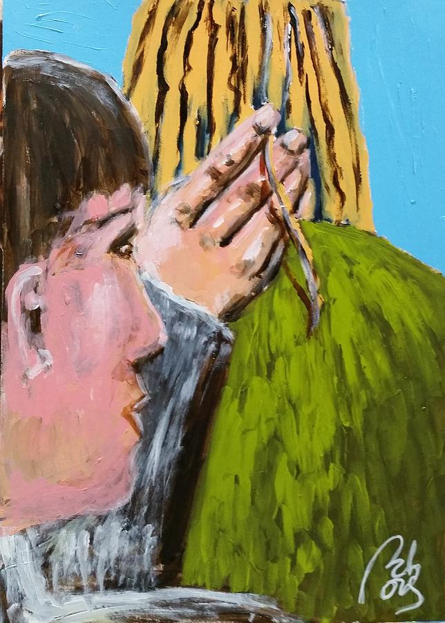 Relationship Painting - Your hair beetween my fingers II by Bachmors Artist